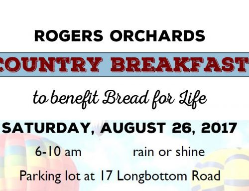 Rogers Orchards Country Breakfast to benefit Bread for Life
